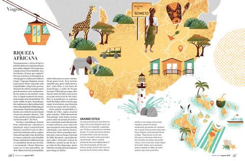 Ilustración de mapa de turismo de Soweto