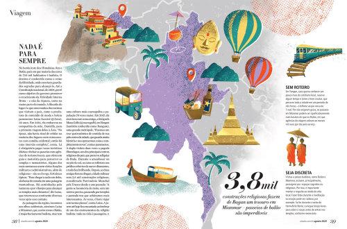 Ilustración editorial de turismo de Viagem