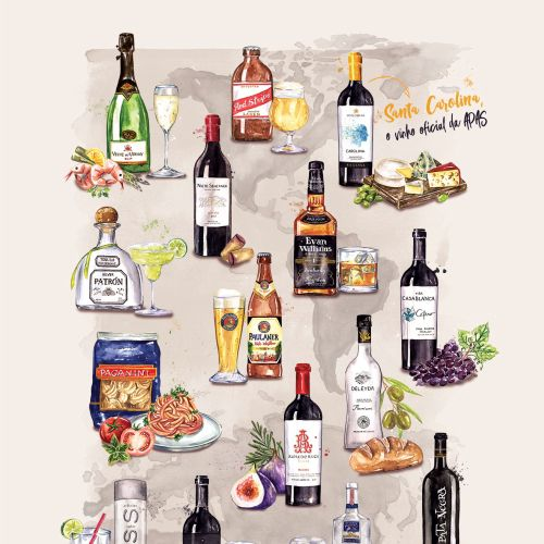 Food and drinks map