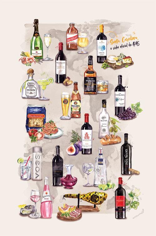Pintura de los productos más vendidos de Casa Flora