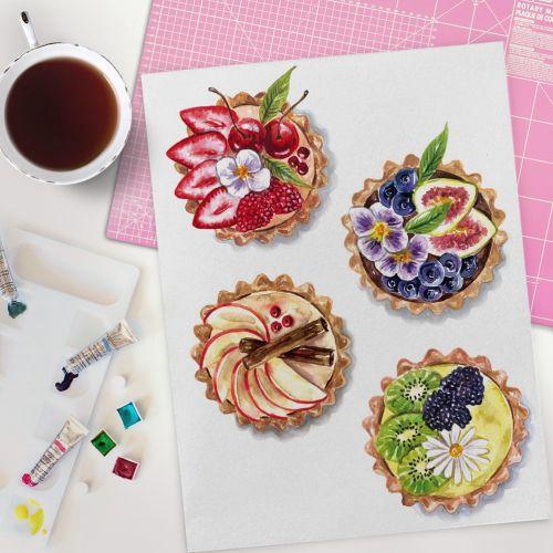 Fruit tart illustration by Camila Gray