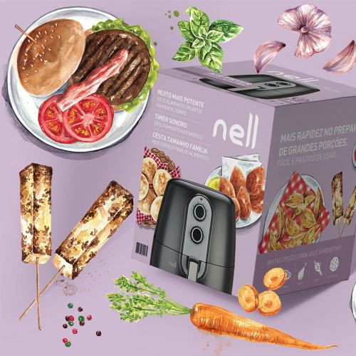 Nell Air Firer packaging illustration