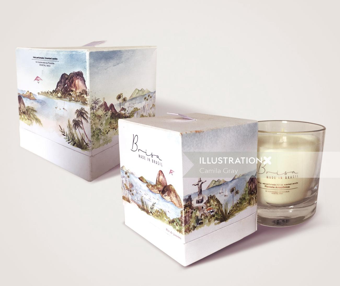 candle packaging of rio de janeiro