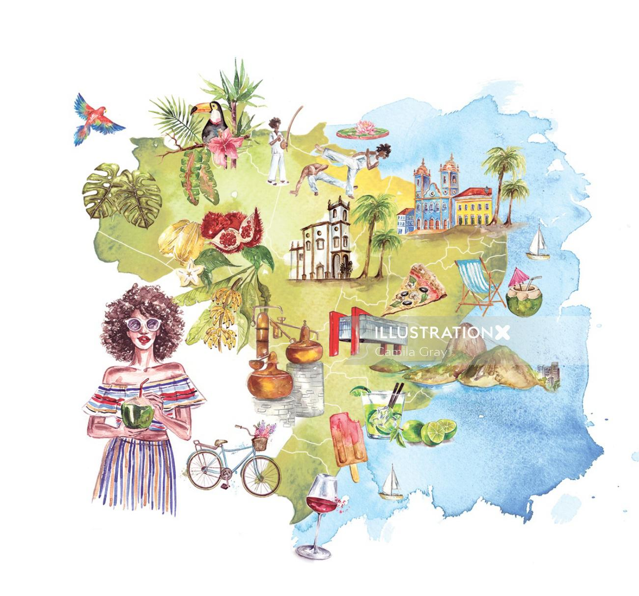 Map illustrated by Camila Gray