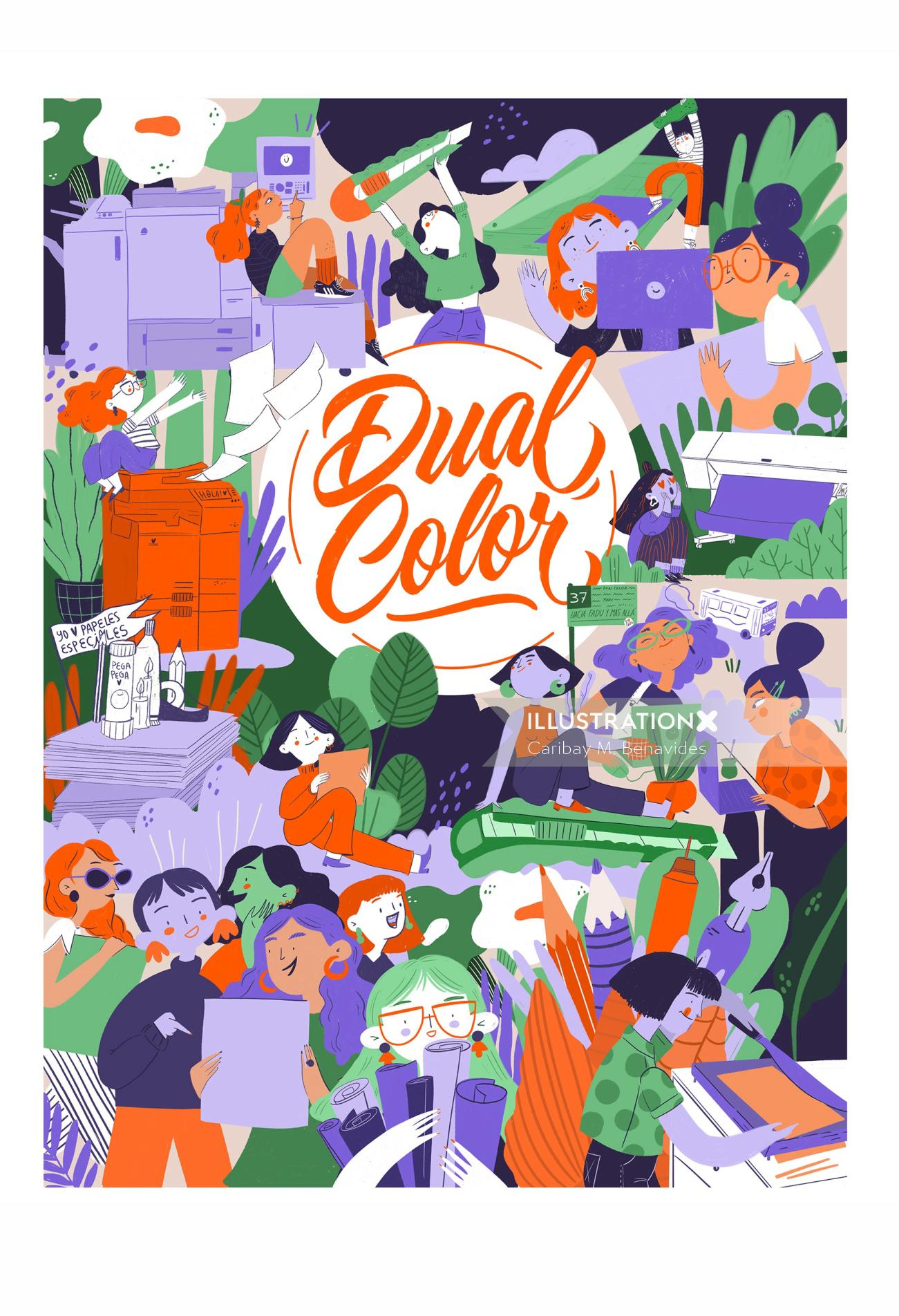 Dual Color is a printing shop in Buenos