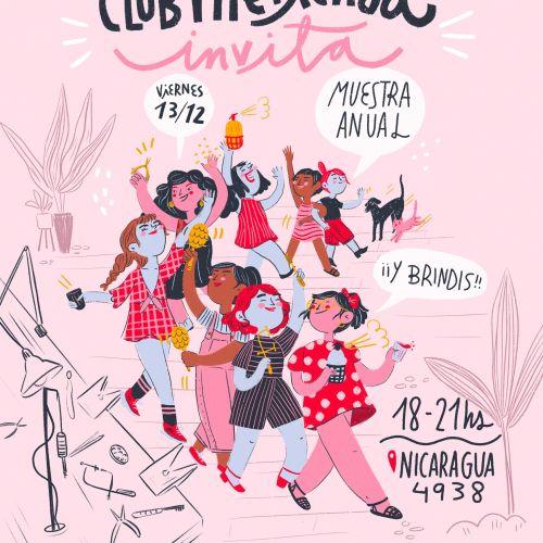Club Merienda pop illustration