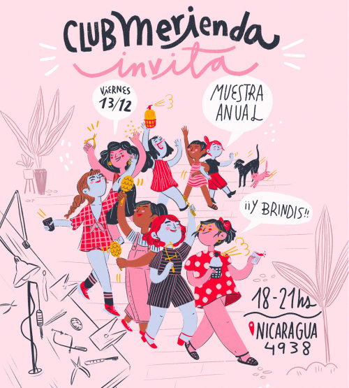 Club Merienda pop illustration