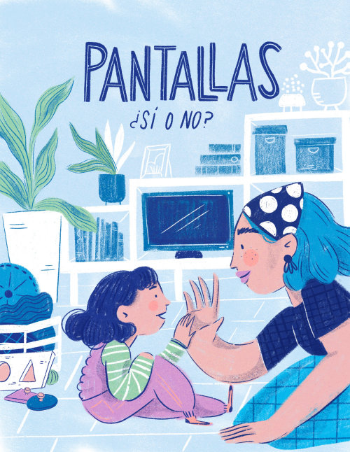 Illustration of pantallas for Nutrilon and Montessori