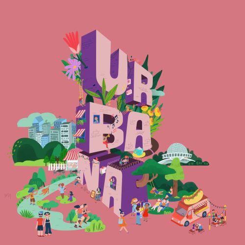 Blod lettering illustration of ur ba na