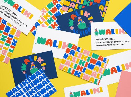 Diseño de logotipo de la marca Waliki por Caribay M. Benavides