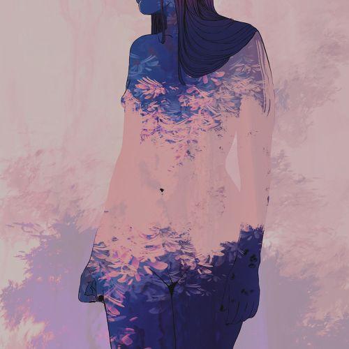Surreal art of woman