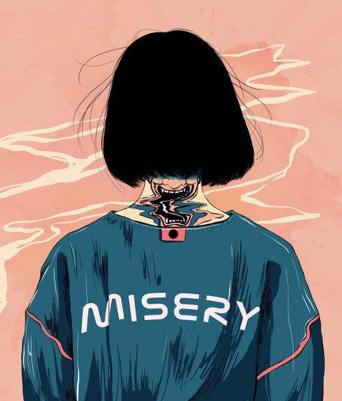 Misery girl illustration