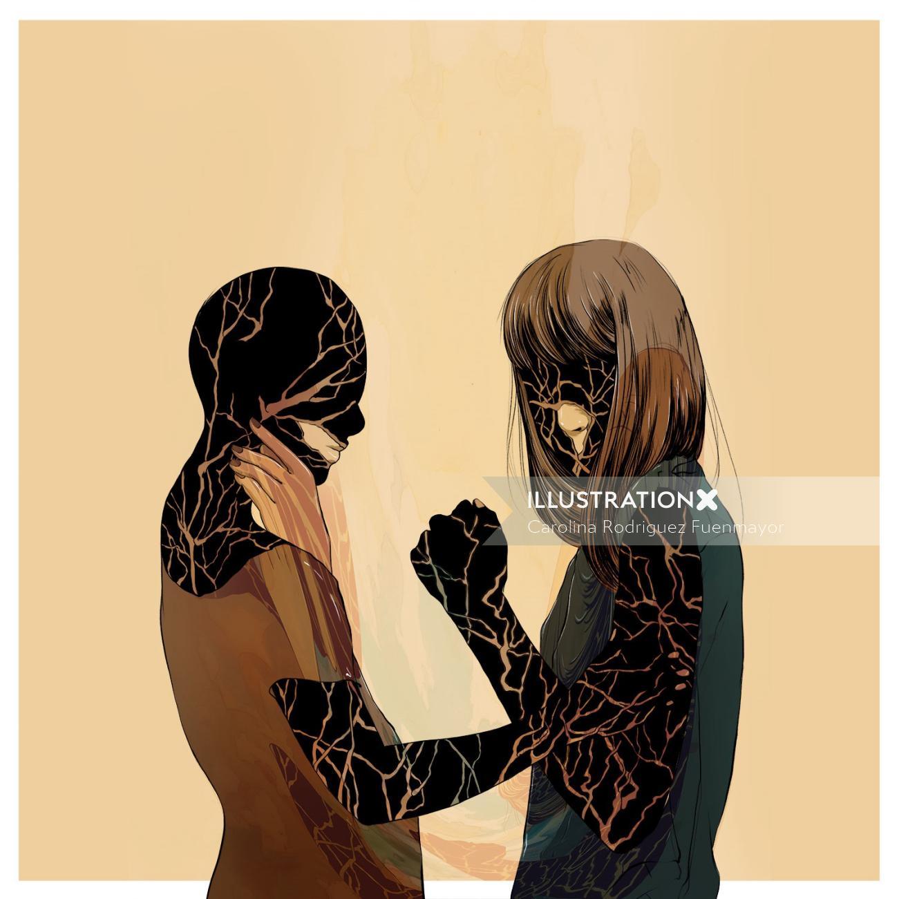 Graphic girls standing