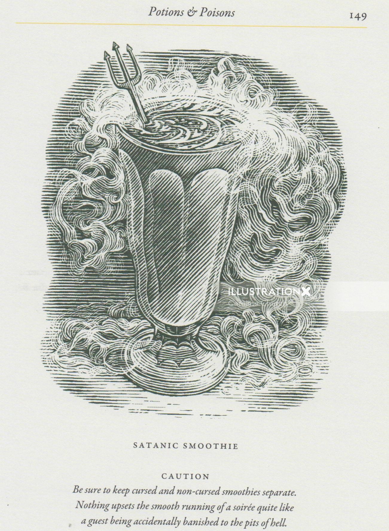 Food & Drink Satanic smoothie