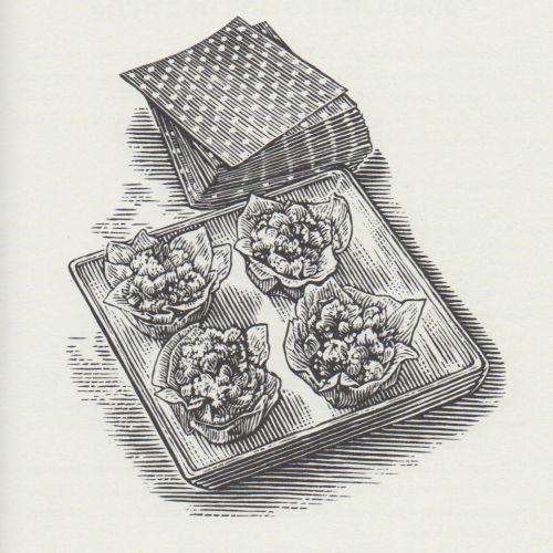 Black & white mashed bogey tarts