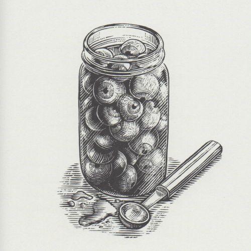 Black & White pickled eye balls