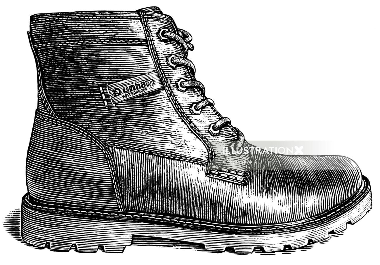 Illustration of man shoes