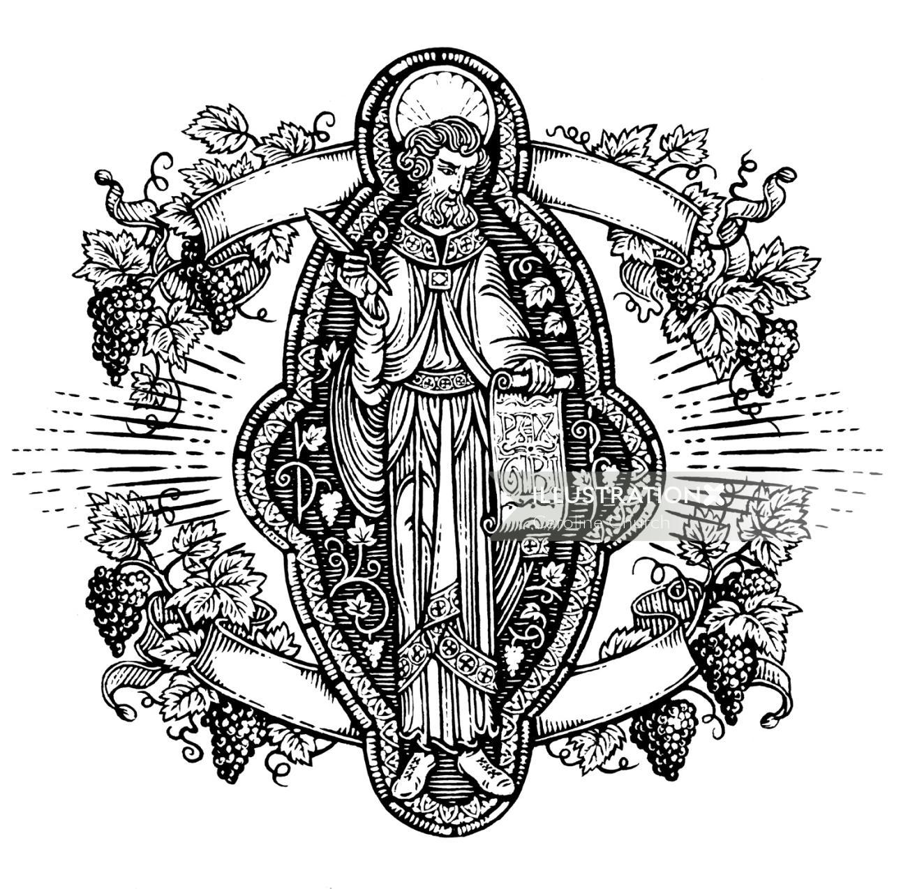 Historical illustration of christ
