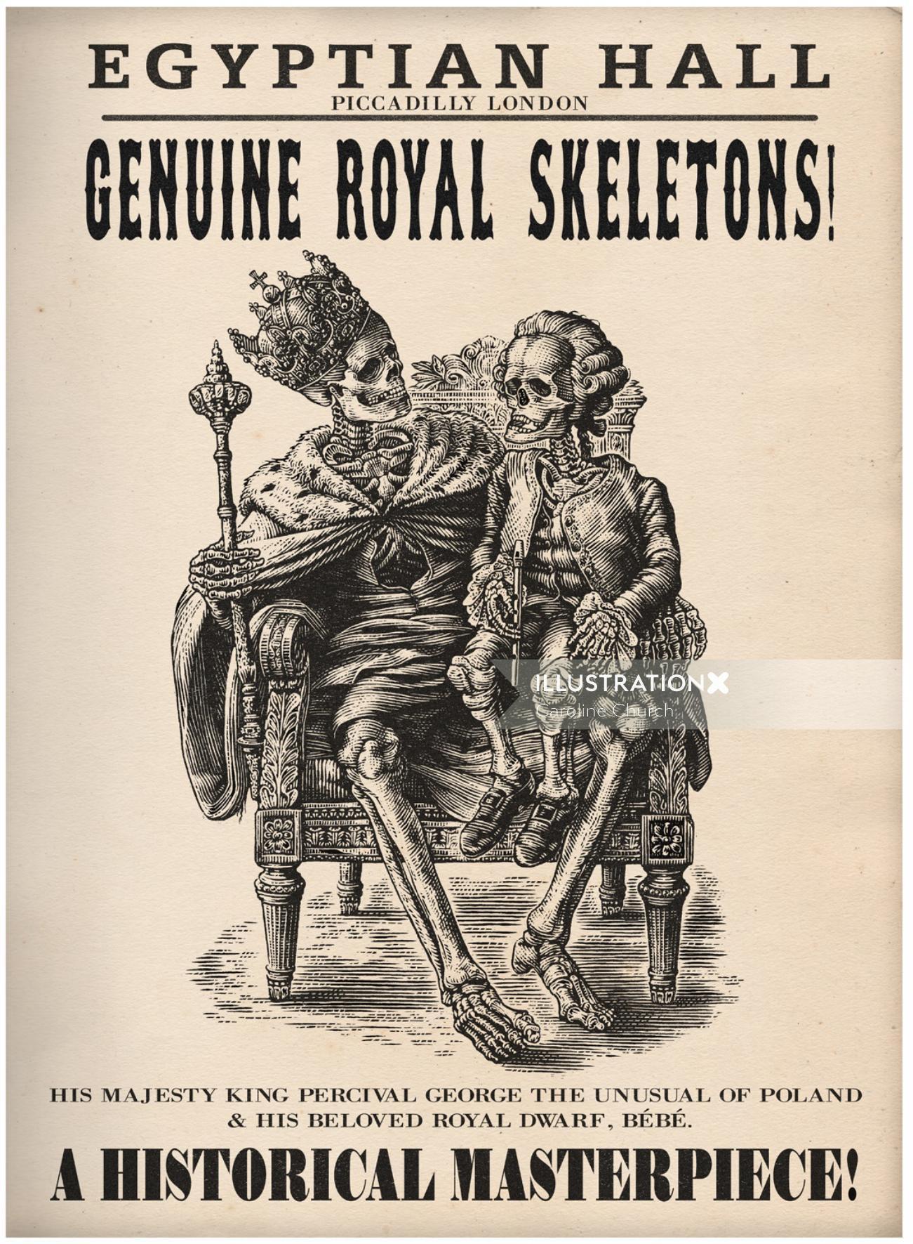 Historical Genuine Royal Skeletons