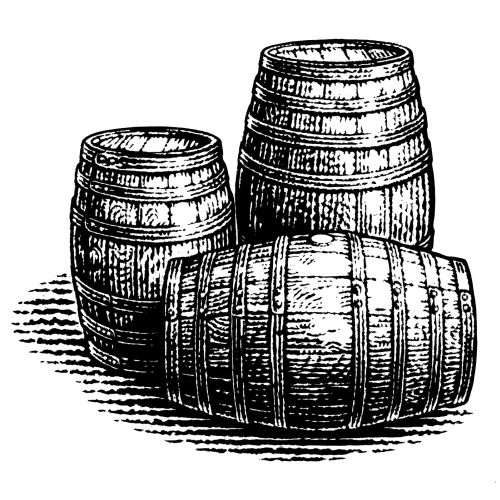 black and white 3 Casks