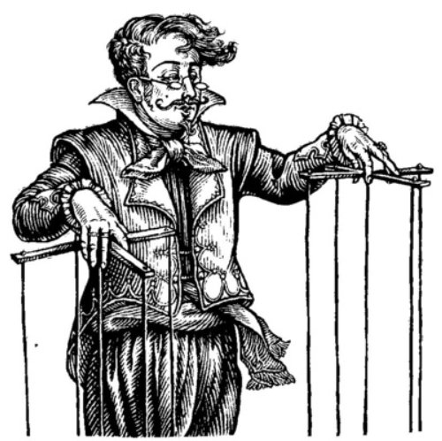 Illustration of  the Puppet Master