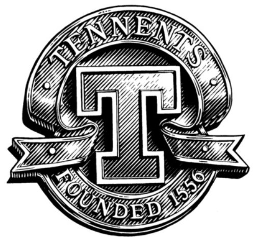 Tennents black and white logo