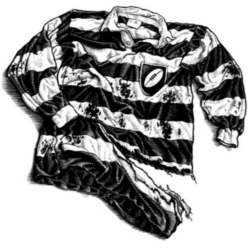 sport jacket engrave illustration