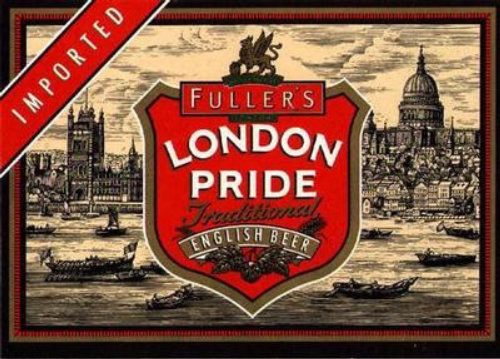 Fullers London Pride wine bottle art