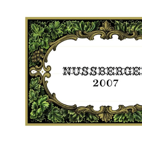 Decorative art of Nussberger Wine