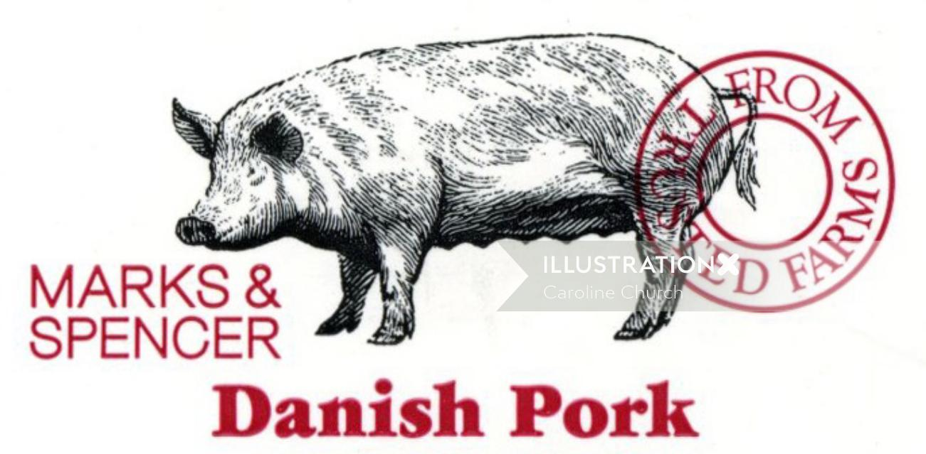 marks and spensor pig