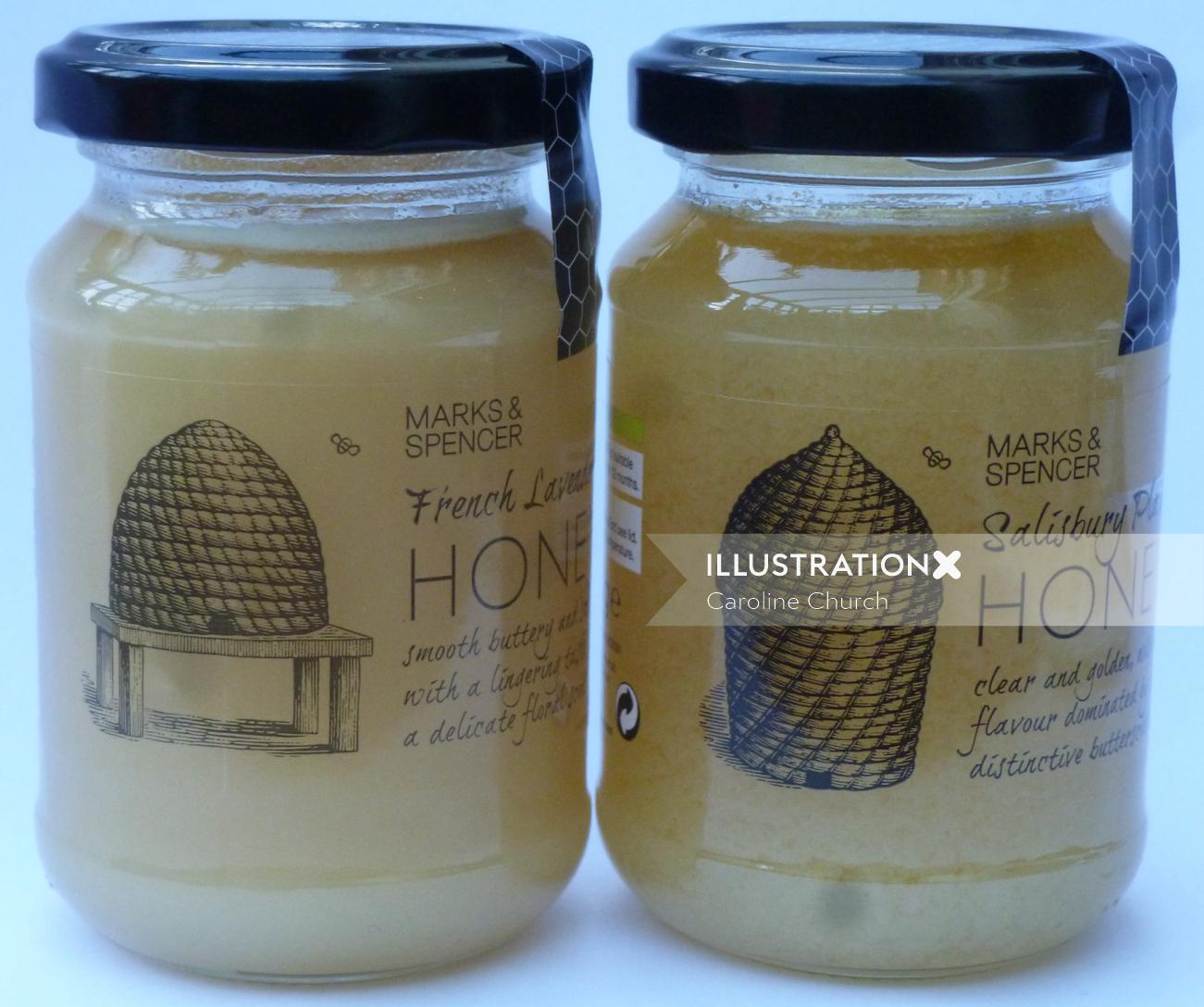 Packaging Honey bottle