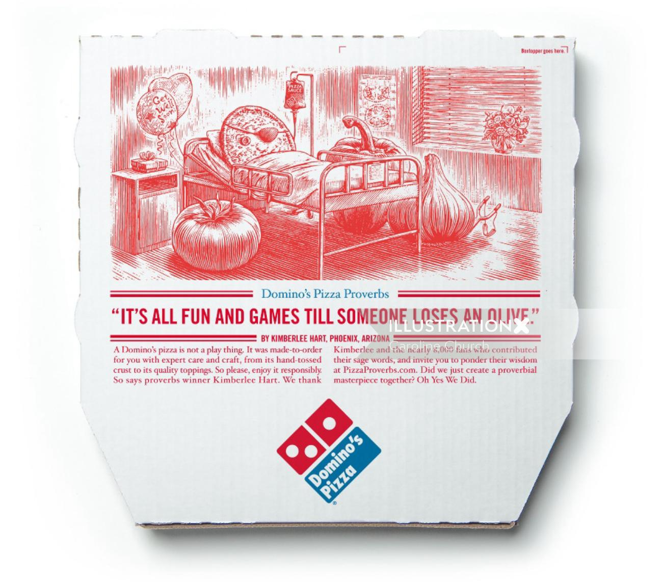 Typography Pizza box cover