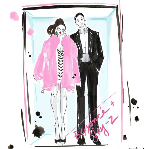 Couple Illustration By Caroline So