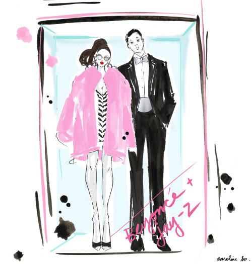 Couple Illustration By Caroline So