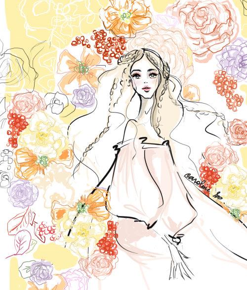Fantasy fashion girl