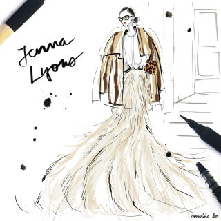 Fashion Sketch Of Jenna Lyons