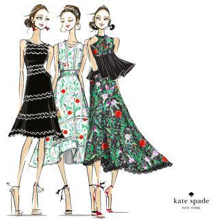 An illustration of beautiful fashionable girls