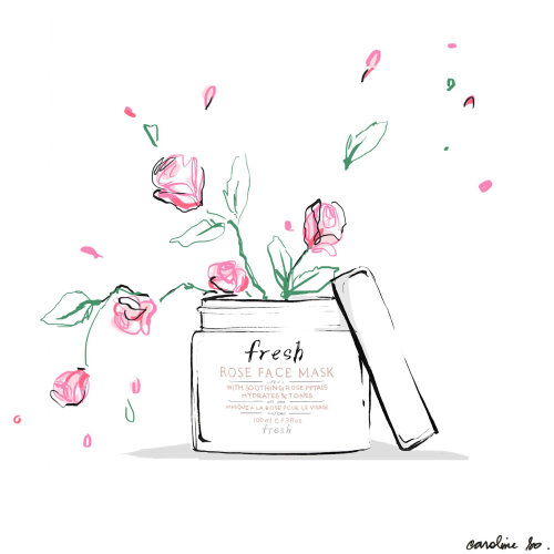 Illustration For Fresh Rose Face Mask