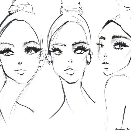 Line Art Of Backstage Faces