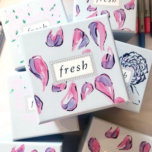 Periwinkle Flower Design For Fresh Facial Cream