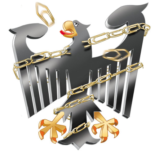 Eagle locked with pin chain