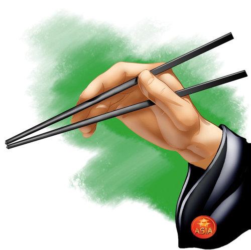 Man with chopsticks