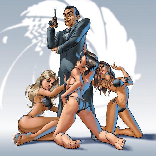 James bond and sexy girls