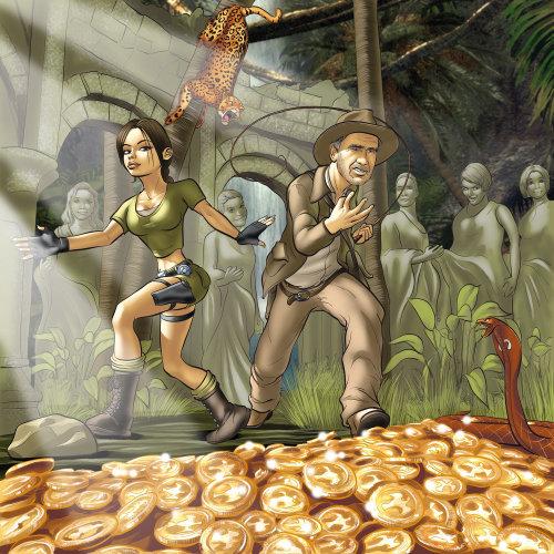 Laura e Indy com ouro