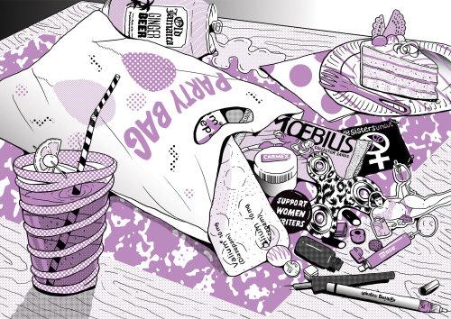 Ilustración para la revista Polyester Zine
