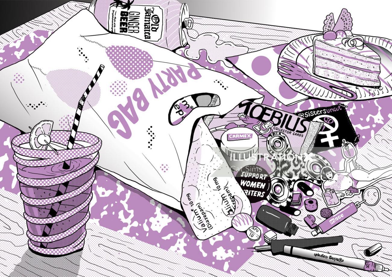 Illustration for Polyester Zine magazine