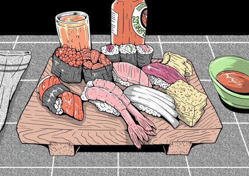 Animación de Sushi Time