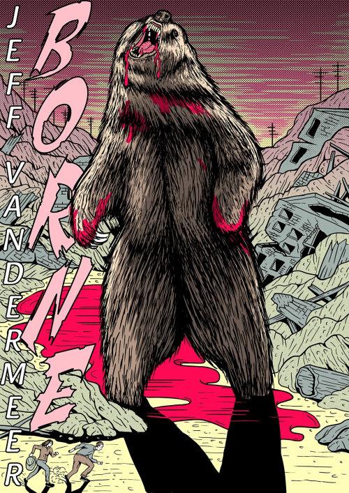 Ilustración cómica de oso