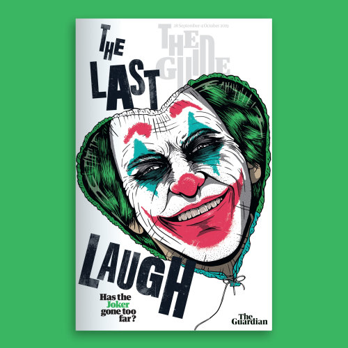 Comic illustration of the last laugh book poster