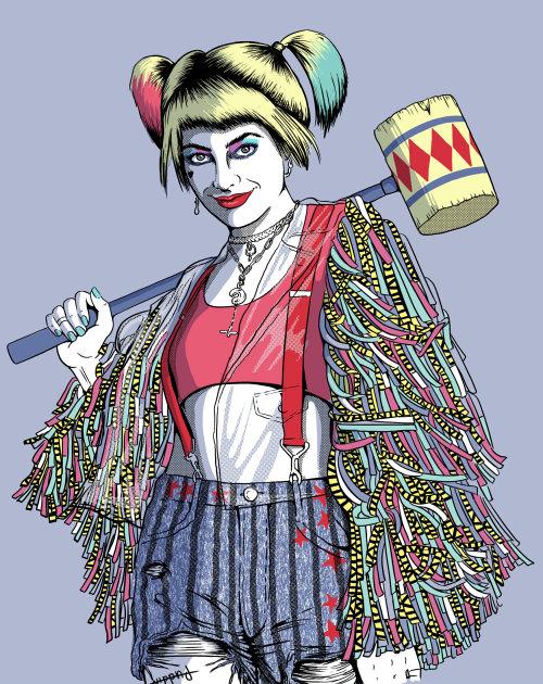 Ilustración cómica de niña Syco